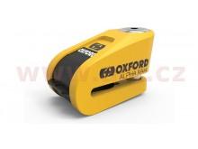 zámek kotoučové brzdy Alpha Alarm XA14, OXFORD (integrovaný alarm, žlutý/černý, průměr čep