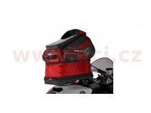 tankbag na motocykl Q30R QR, OXFORD - Anglie (černý/červený, s rychloupínacím systémem na
