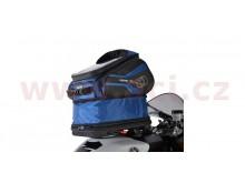 tankbag na motocykl Q30R QR, OXFORD - Anglie (černý/modrý, s rychloupínacím systémem na ví