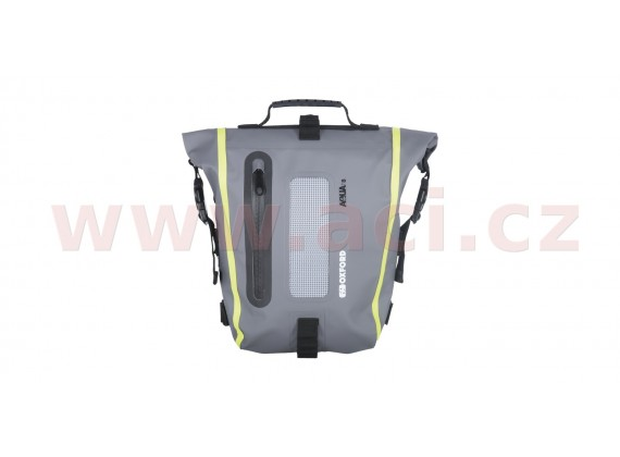 brašna na sedlo spolujezdce Aqua T8 Tail bag, OXFORD (černá/šedá/žlutá fluo, objem 8 l)