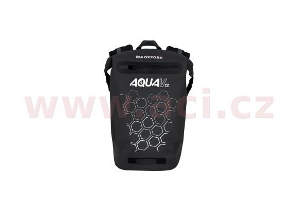 vodotěsný batoh AQUA V12, OXFORD (černá, objem 12 L)