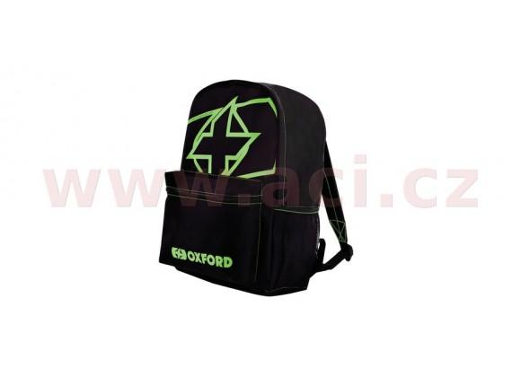 batoh X-Rider, OXFORD (černý/zelený, objem 15 l)