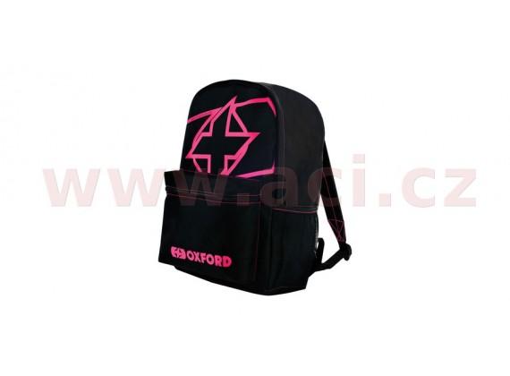 batoh X-Rider, OXFORD (černý/růžový, objem 15 l)