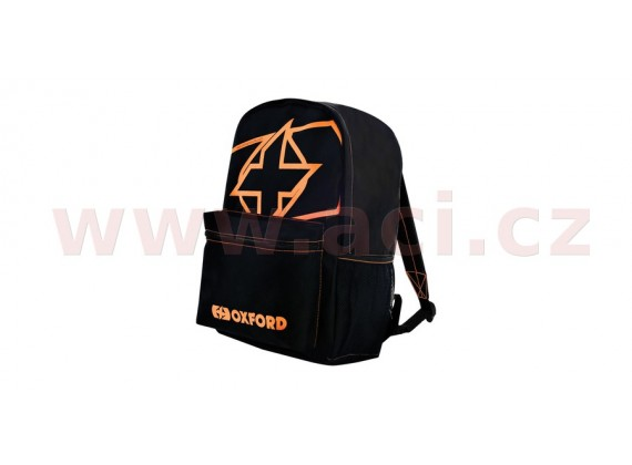 batoh X-Rider, OXFORD (černý/oranžový fluo, objem 15 l)