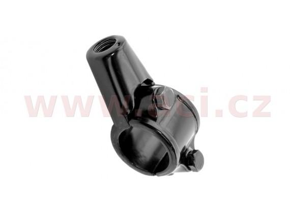 adaptér zpětného zrcátka M8/1,25 pravý závit (22,2 mm průměr) (černý)