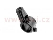 adaptér zpětného zrcátka M8/1,25 levý závit (22,2 mm průměr) (černý)