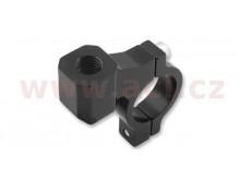 CNC adaptér zpětného zrcátka M8/1,25 levý závit (22,2 mm průměr) (černý)