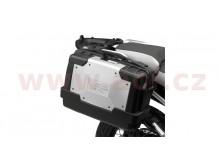 MONOKEY TopCase/Boční kufr GARDA - 33l, KAPPA (stříbrný/černý, kompozit)