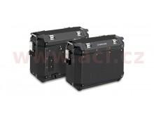 sada bočních kufrů K-VENTURE - 37l, KAPPA (černé, hliník, 49,5x38,7x24,6 cm)