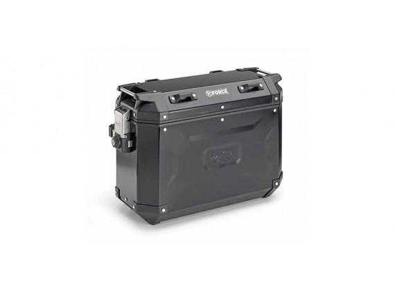 sada bočních kufrů K-FORCE - 37l, KAPPA (černý, hliník, 49,5x38,7x24,6 cm)