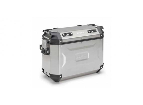 sada bočních kufrů K-FORCE - 37l, KAPPA (stříbrný, hliník, 49,5x38,7x24,6 cm)