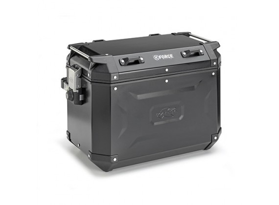 boční kufr K-FORCE - levý, KAPPA (48l, černý hliník, 49,5x38,7x30,6 cm)