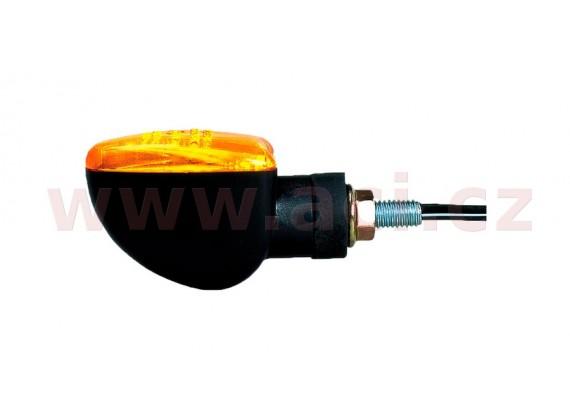 blinkr Arrow krátký, OXFORD - Anglie (oranžové sklíčko, černý plášť, pár)