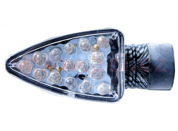 blinkr LED Arrow krátký, OXFORD (čiré sklíčko, plášť imitace carbon, pár)