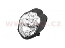přední světlo hlavní ROAD (190 x 250 mm, H4 12V 60/55 W + 12 V W3W)