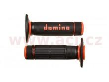 gripy A020 (offroad) délka 118 mm, DOMINO (černo-oranžové)