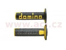 gripy A360 (offroad) délka 120 mm, DOMINO (černo-žluté)