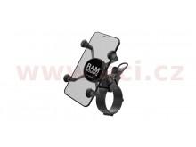 kompletní sestava univerzálního držáku X-Grip na řídítka do průměru 60 mm, RAM Mounts