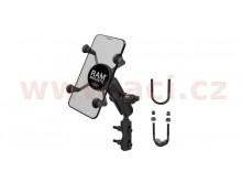 kompletní sestava držáku X-Grips uchycením na objímku brzdové/spojkové páčky/řidítka moto