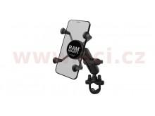 kompletní sestava držáku mobilního telefonu X-Grip s objímkou na řidítka, RAM Mounts