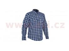 košile KICKBACK CHECKER s Kevlar® podšívkou, OXFORD (modrá/bílá)