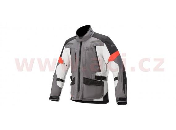 bunda VALPARAISO V3 DRYSTAR 2020, ALPINESTARS (tmavá šedá/světlá šedá/červená)