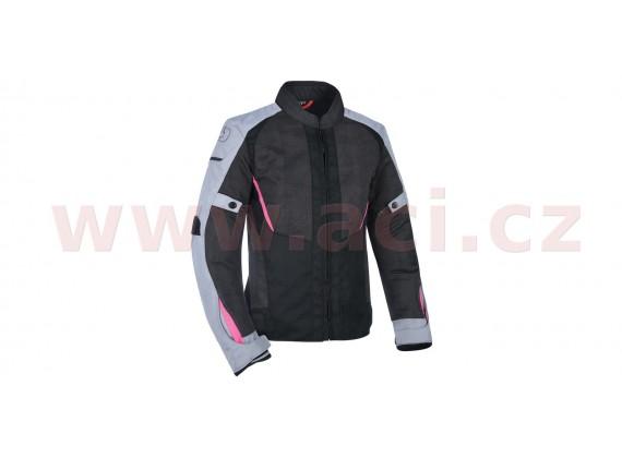 bunda IOTA 1.0 AIR, OXFORD, dámská (černá/šedá/růžová)
