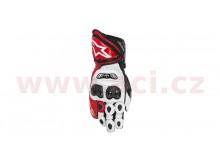 rukavice GP TECH, ALPINESTARS (bílé/červené/černé)