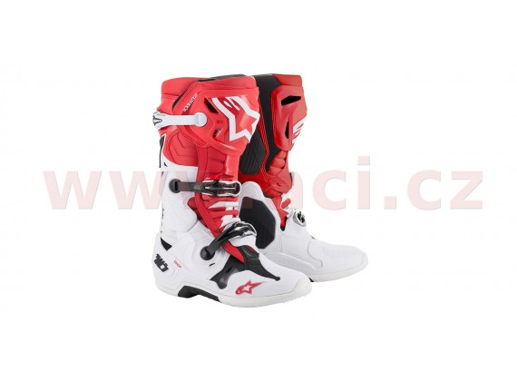 boty TECH 10 2020, ALPINESTARS (bílá/červená/černá)