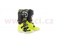 boty TECH 7 S 2021, ALPINESTARS, dětské (žlutá fluo/vojenská zelená/černá)