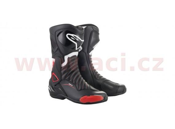 boty S-MX 6, ALPINESTARS (černé/červené)
