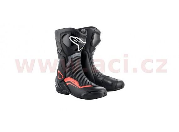 boty S-MX 6, ALPINESTARS (černá/šedá/červená fluo)