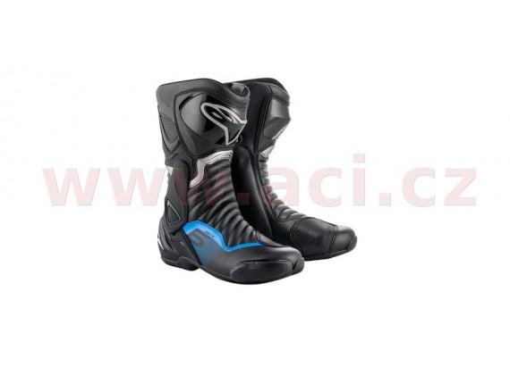 boty S-MX 6, ALPINESTARS (černá/šedá/modrá)