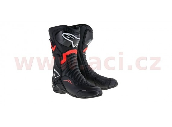 boty S-MX 6 Drystar, ALPINESTARS (černé/červená fluo)