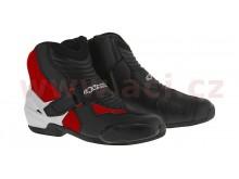 boty SMX-1 R, ALPINESTARS (černé/bílé/červené)
