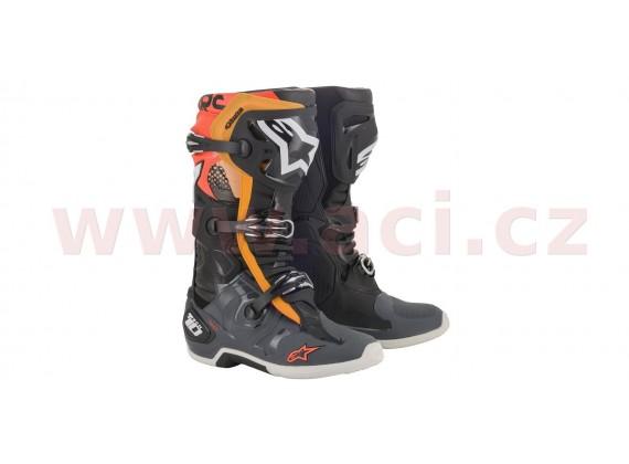 boty TECH 10 2020, ALPINESTARS (černá/šedá/oranžová/červená fluo)