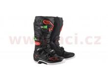 boty TECH 7 2021, ALPINESTARS (černá/červená/zelená)