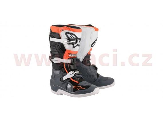 boty TECH 7 S 2021, ALPINESTARS, dětské (černá/šedá/bílá/oranžová fluo)
