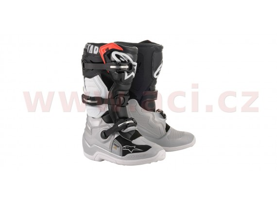 boty TECH 7 S 2021, ALPINESTARS, dětské (černá/stříbrná/bílá/zlatá)