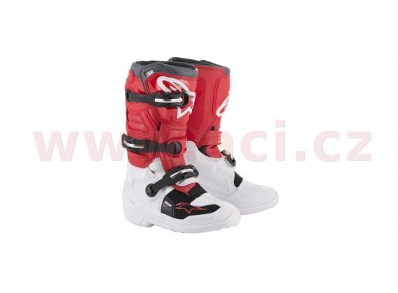 boty TECH 7 S 2020, ALPINESTARS, dětské (bílá/červená/šedá)