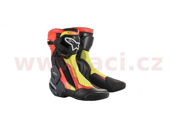 boty SMX PLUS V2 2020, ALPINESTARS (černá/červená fluo/žlutá fluo/šedá)