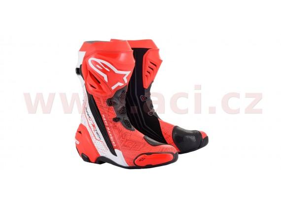 boty SUPERTECH R 2020 limitovaná edice MM93, ALPINESTARS (červená fluo/bílá/černá, perforo