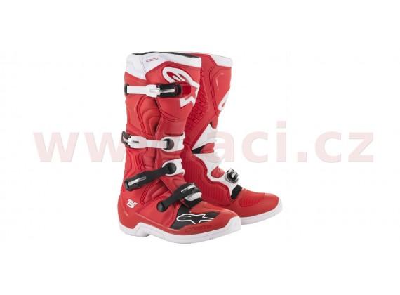 boty TECH 5 2020, ALPINESTARS (červená/bílá)