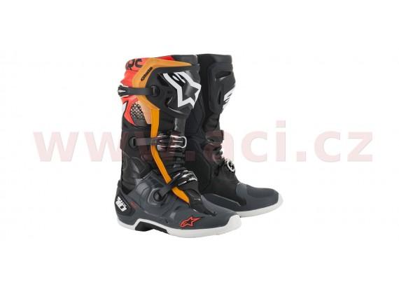 boty TECH 10 2021, ALPINESTARS (černá/šedá/oranžová/červená)