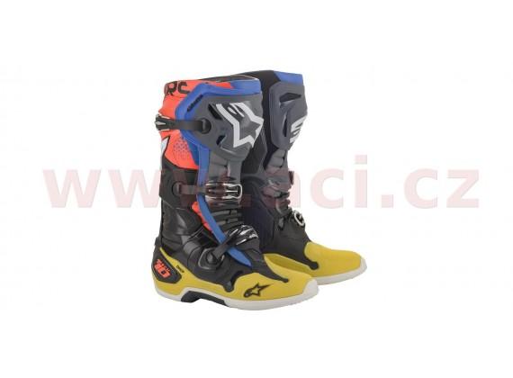 boty TECH 10 2021, ALPINESTARS (černá/žlutá/modrá/červená)