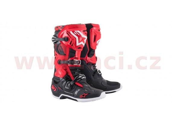 boty TECH 10 2021, ALPINESTARS (červená/černá)