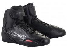 boty FASTER-3 2021, ALPINESTARS (černá/stříbrná)