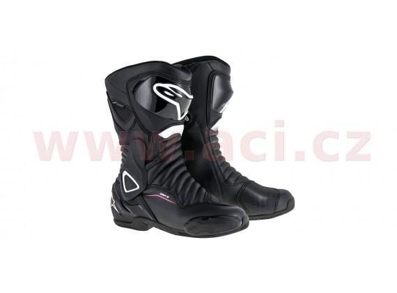 boty STELLA SMX-6 DRYSTAR V2, ALPINESTARS, dámské (černá/bílá/fialová)