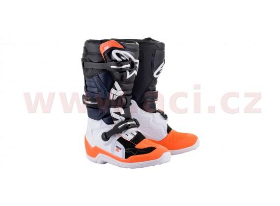 boty TECH 7 S 2021, ALPINESTARS, dětské (černá/bílá/oranžová fluo)