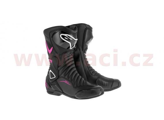 boty STELLA S-MX 6, ALPINESTARS (černé/fialové/bílé)
